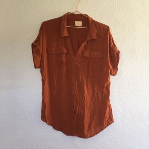 Anthropologie edme & esyllte 14 Burnt Orange Top